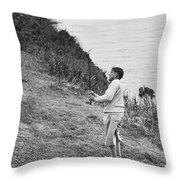 Bobby Jones At Pebble Beach Throw Pillow