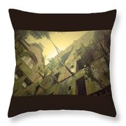 A Glowing Bodmin Jail  Throw Pillow