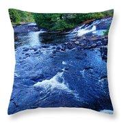 Bog River Falls Throw Pillow