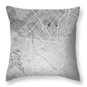 Bogota Street Map - Bogota Colombia Road Map Art On Colored Back Throw Pillow