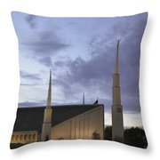 Boise - Mormon Temple Throw Pillow
