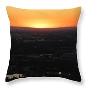 Boise Id Sunset Throw Pillow