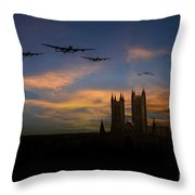 Bombers Over Lincoln  Throw Pillow