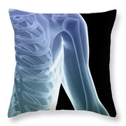 Bones Of The Shoulder And Chest Throw Pillow