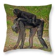 Bonobos Throw Pillow
