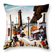Boomtown Throw Pillow