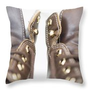 Boots Throw Pillow