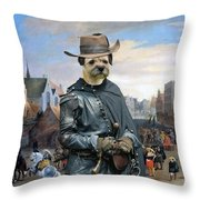 Border Terrier Art Canvas Print Throw Pillow