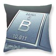 Boron Chemical Element Throw Pillow