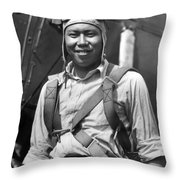 Boston Airport Chinese Aviator Throw Pillow