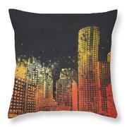 Boston City Skyline Throw Pillow by Aged Pixel