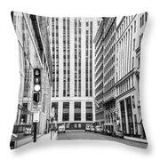 Boston Downtown Throw Pillow