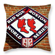 Boston Red Sox 1912 World Champions Throw Pillow