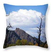Boulder Flatirons 1 Throw Pillow