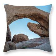 Boulders In A Desert, Joshua Tree Throw Pillow