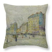 Boulevard De Clichy Throw Pillow