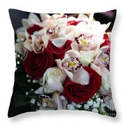 Bouquets Of Flowers For The Bride To The Wedding Throw Pillow