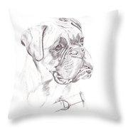 Boxer - Clue Throw Pillow