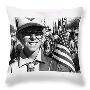 Boy Scout Veteran's Day Parade Tucson Arizona 1990 Black And White Throw Pillow