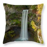 Brandywine Falls British Columbia Throw Pillow