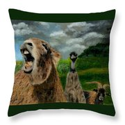 Braying Throw Pillow