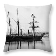 Brazilian Steamship, 1863 Throw Pillow