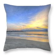 Breach Inlet Sunrise Throw Pillow