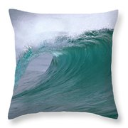 Breaking Wave North Shore Hawaii Throw Pillow