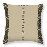 Brennan Written In Ogham Throw Pillow