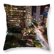 Brickell Ave Downtown Miami  Throw Pillow