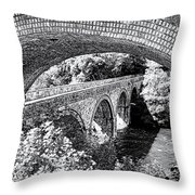 Bridge Under A Bridge Throw Pillow by Jane Rix
