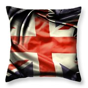 British Flag 10  Throw Pillow