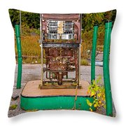Broken And Abandoned Fuel Pump Throw Pillow