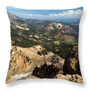Brokeoff Mountain Scenery Throw Pillow