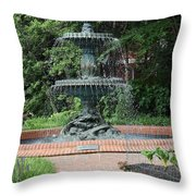 Bronze Fountain Annapolis Throw Pillow