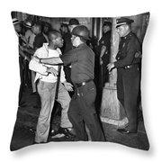 Brooklyn Riots, 1964 Throw Pillow