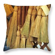Brooms For Sale Throw Pillow