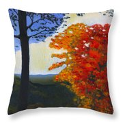 Brown County Indiana Throw Pillow by Katherine Miller