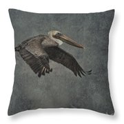 Brown Pelican 2 Throw Pillow