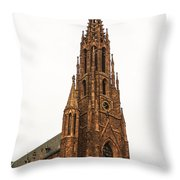 Brownstone Church Throw Pillow