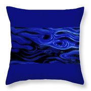 Brush Strokes In Blue Throw Pillow