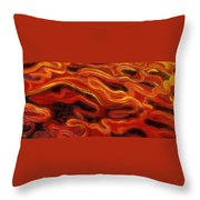 Brush Strokes In Red Throw Pillow