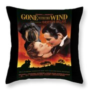 Brussels Griffon Art - Gone With The Wind Movie Poster Throw Pillow
