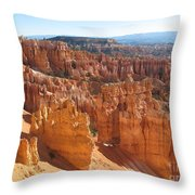 Bryce Canyon Hoodoos And Fins Throw Pillow