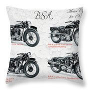 Bsa Motor Cycles For 1936 Throw Pillow
