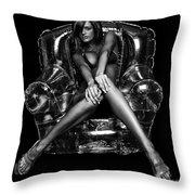 Bubble Chair Throw Pillow