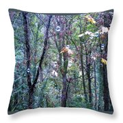 Bubble Trees Throw Pillow