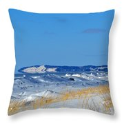 Building Ice Throw Pillow