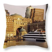 Buildings At The Waterfront, Boston Throw Pillow