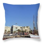 Buildings At The Waterfront, Columbus Throw Pillow